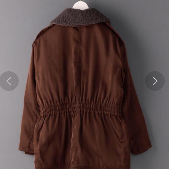 BEAUTY&YOUTH UNITED ARROWS(ビューティアンドユースユナイテッドアローズ)の最終お値下げ6(ROKU) BOA COLLAR ZIP COAT/コート レディースのジャケット/アウター(ブルゾン)の商品写真