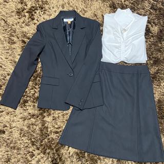 NATURAL BEAUTY BASIC - 美品⭐︎3点セットで♡黒のスカートスーツ&シャツ