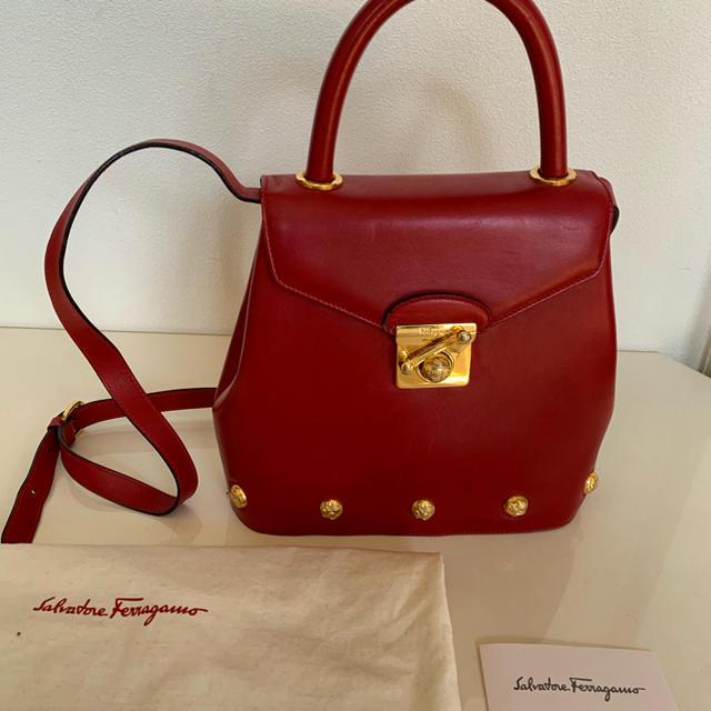 Salvatore Ferragamo(サルヴァトーレフェラガモ)の【希少美品】Ferragamoのヴィンテージレアケリー レディースのバッグ(ハンドバッグ)の商品写真