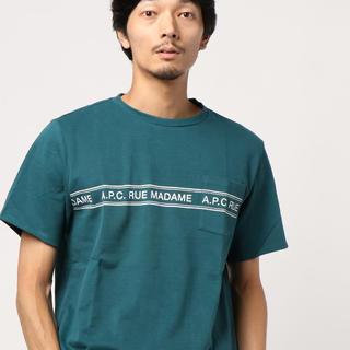 アーペーセー(A.P.C)の新品 APC A.P.C. ロゴプリント ポケット付きTシャツ Sサイズ(Tシャツ/カットソー(半袖/袖なし))