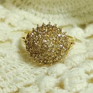 K18 ライトブラウンダイヤ1ctリング 天然ダイヤモンド(リング(指輪))