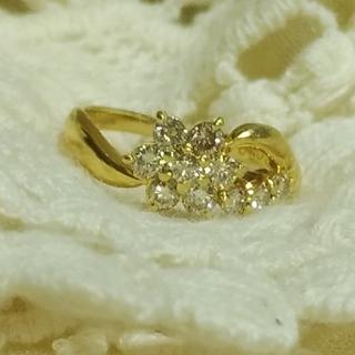K18ライトブラウンダイヤ0.5ctのスィート10リング 天然ダイヤモンド(リング(指輪))
