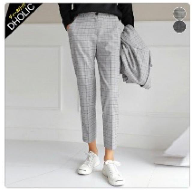 dholic(ディーホリック)のグレンチェック アンクル丈 パンツ Mサイズ レディースのパンツ(カジュアルパンツ)の商品写真