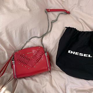 DIESEL - DIESEL  クロスボディバッグ ショルダーバッグ 赤