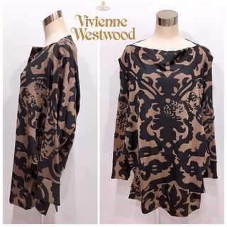 Vivienne Westwood - 美品 ヴィヴィアンウエストウッド 変形 総柄 2WAY ワンピース インポート