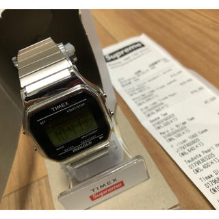 supreme timex digital watch シルバー silver