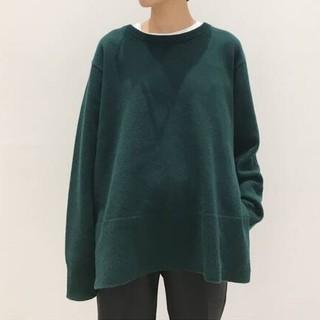 L'Appartement DEUXIEME CLASSE - L'Apparement/ Wool cashmereC/N Slit Knit