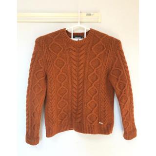 ディースクエアード(DSQUARED2)の超美品‼️ディースクエアード DSQUARED2 セーター オレンジ ブラウンL(ニット/セーター)