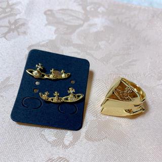 ヴィヴィアンウエストウッド(Vivienne Westwood)のヴィヴィアンウエストウッド キャンディオーブピアス ナックルリング セット (リング(指輪))
