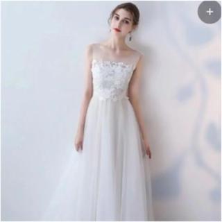 ウエディングドレス 前撮り 二次会 ドレス ナチュラル