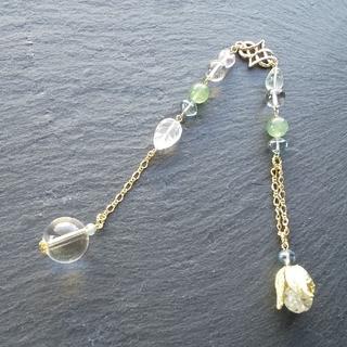 「光の草原」ブレスレットになる天然石ペンデュラム(ブレスレット/バングル)