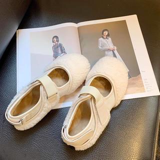 韓国ファッション モコモコシューズ