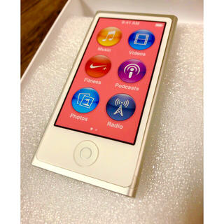 アップル(Apple)の★新品★ 第7世代 iPod nano(シルバー)★保証付★(ポータブルプレーヤー)