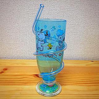 スヌーピー(SNOOPY)のUSJ スヌーピー ビーズストローカップ(グラス/カップ)