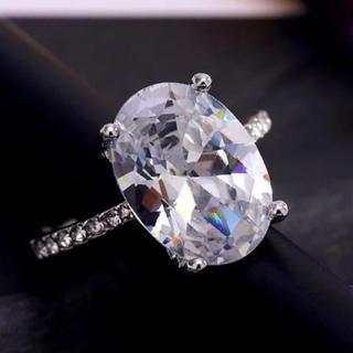 値下げ11号クリスタルホワイトCZダイヤモンドs925リング(リング(指輪))