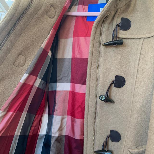 BURBERRY BLUE LABEL(バーバリーブルーレーベル)のバーバリー ダッフルコート クレストブリッジ  キャメル レディースのジャケット/アウター(ダッフルコート)の商品写真