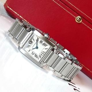 Cartier - 【美品☆】カルティエ タンクフランセーズ レディース SM スティール /腕時計