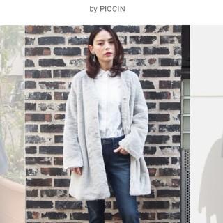 ピッチン(PICCIN)の新品PICCINエコファーノーカラーコートジャケットM(ノーカラージャケット)