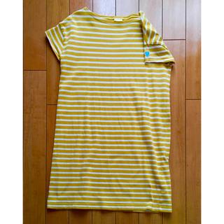 オーシバル(ORCIVAL)のオーチバル 半袖ボーダーワンピース 黄色(ひざ丈ワンピース)