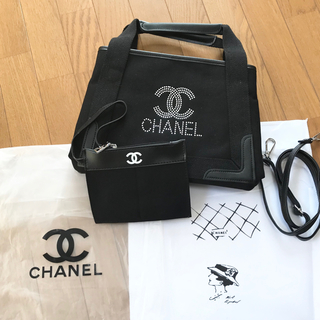 CHANEL - シャネルCHANEL💕ノベルティキャンバス2wayトートバック