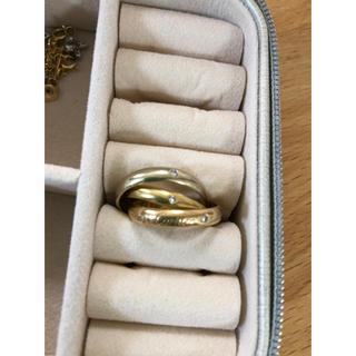 カルティエ(Cartier)のカルティエトリニティ 3Pダイヤ スリーカラーゴールド 150周年限定品(リング(指輪))