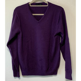 シマムラ(しまむら)の《しまむら》Vネックニット セーター パープル  紫(ニット/セーター)