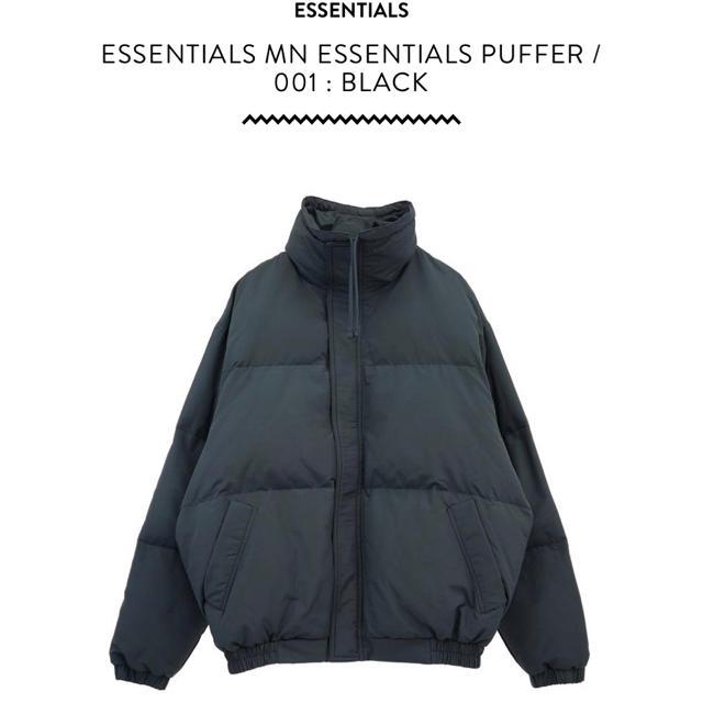 FEAR OF GOD(フィアオブゴッド)の国内購入 fog essentials puffer jacket L ダウン メンズのジャケット/アウター(ダウンジャケット)の商品写真