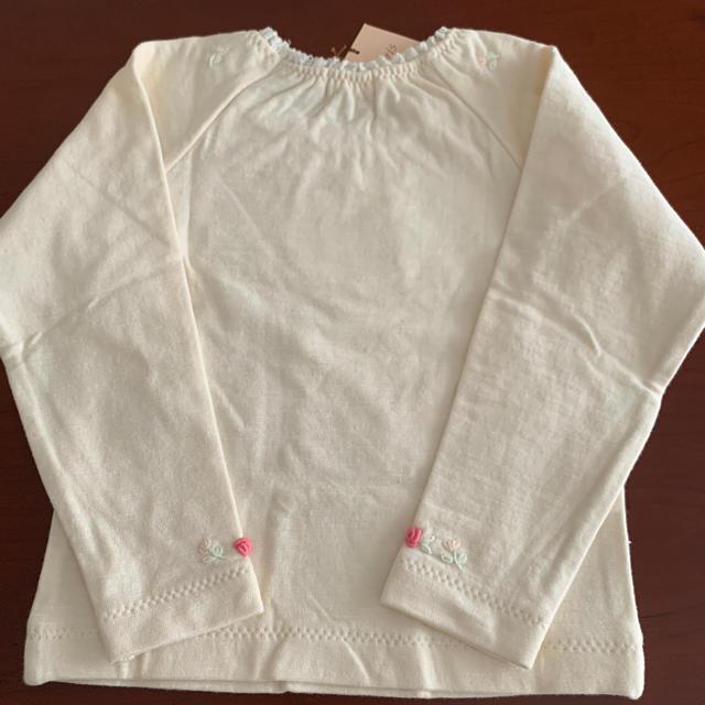 Souris(スーリー)の【未使用品】Souris 長袖シャツ100サイズ キッズ/ベビー/マタニティのキッズ服女の子用(90cm~)(Tシャツ/カットソー)の商品写真