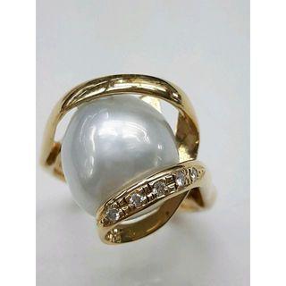 K18南洋パールリング 17.5号 超美品(リング(指輪))