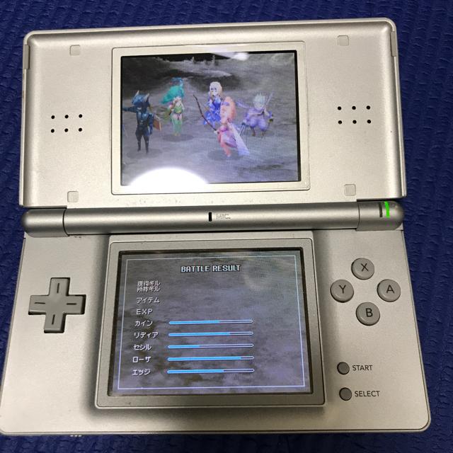 ニンテンドーDS(ニンテンドーDS)のニンテンドーDS lite ファイナルファンタジー4付 エンタメ/ホビーのゲームソフト/ゲーム機本体(携帯用ゲーム機本体)の商品写真