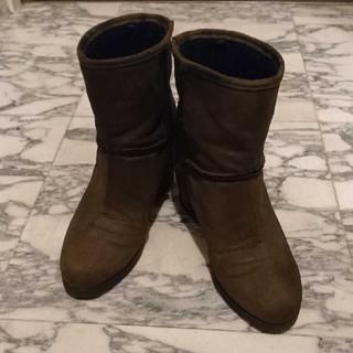 森公美子 ウェッジソールブーツ ブーティ 日テレ 25cm 大きい(ブーツ)