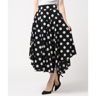 DOUBLE STANDARD CLOTHING - 今季新品☆ダブルスタンダードクロージングsovドットスカート38