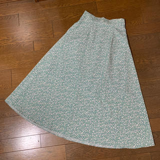 dholic - DHOLIC❤︎小花柄グリーンスカート