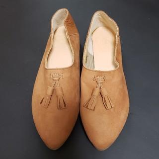 あしながおじさん - 未使用 あしながおじさん キャメル スエード 靴 24.5cm