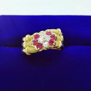 ルビーダイヤモンドリング★K18(リング(指輪))