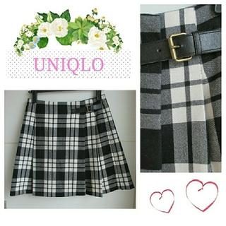 UNIQLO - 【本日限定SALE★】チェック柄ラップスカート♡