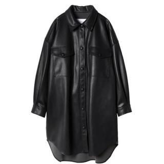 LE CIEL BLEU - ルシェルブルー Faux Leather Shirt Coat