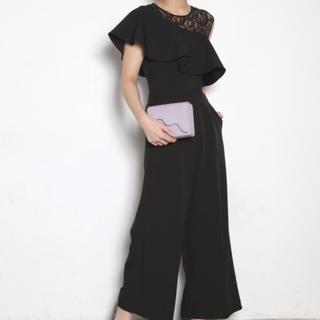 ラグナムーン(LagunaMoon)のLADYラッフルワイドパンツドレス(その他ドレス)