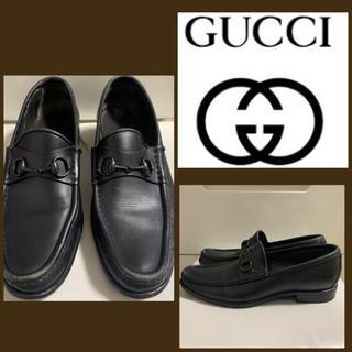 Gucci - GUCCI ブラックレザー  ホースビットローファー