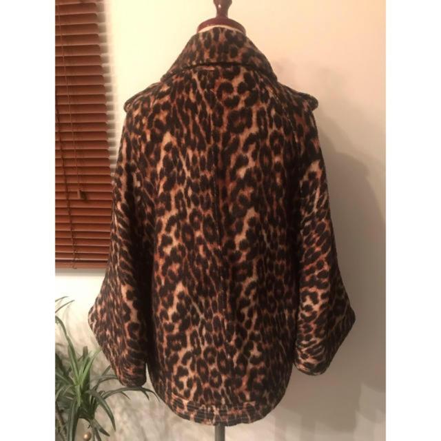 moussy(マウジー)のmoussyヒョウ柄Aラインコート レディースのジャケット/アウター(その他)の商品写真