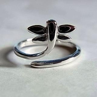 新品SVシルバー925リング指輪12号とんぼ蜻蛉デザイン?ピンキーリング 男性(リング(指輪))