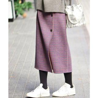 IENA - iena  wフェイスリバーシブルミッドカーブスカート 40