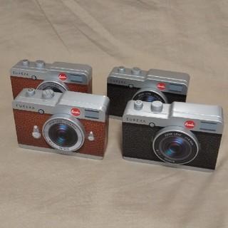 カルディ(KALDI)のKALDI  カメラ缶  4個セット(ブラック&ブラウン)(菓子/デザート)