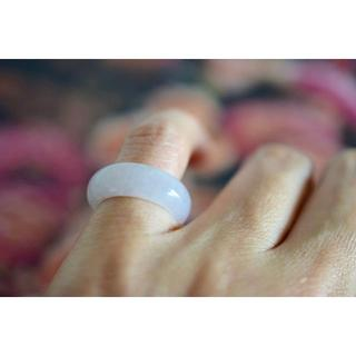 20-123 小指 薬指 5.5号〜6.0号 天然 A貨 翡翠 リング 硬玉(リング(指輪))