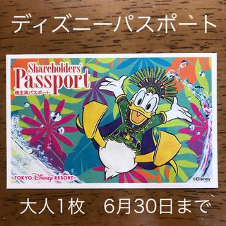 Disney - ディズニー チケット パスポート 大人1枚 株主優待 未使用