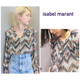 イザベルマラン(Isabel Marant)のISABEL MARANT♡新品 マルチ柄肩フリル長袖ブラウス(シャツ/ブラウス(長袖/七分))