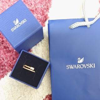 スワロフスキー(SWAROVSKI)のスワロフスキーピンクゴールド指輪 サイズ58(リング(指輪))