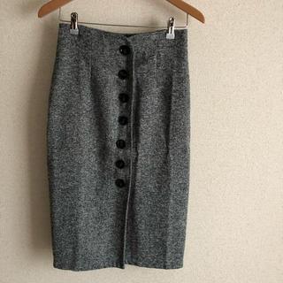 ベルーナ(Belluna)のグレー ひざ丈スカート Mサイズ(ひざ丈スカート)