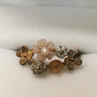 貝の花モチーフリング(リング(指輪))