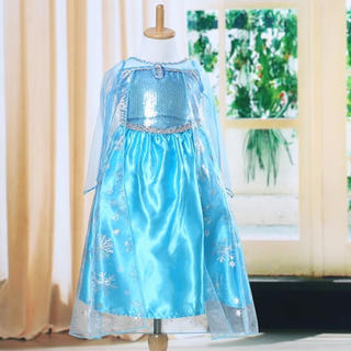 アナトユキノジョオウ(アナと雪の女王)の【サイズ120】エルサ風ドレス+ブローチ付(ドレス/フォーマル)
